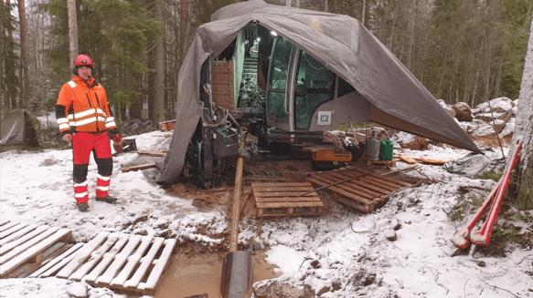 Savon Suuntaporaus Oy - Suuntaporaukset kallioon talvella nykyaikaisella kalustolla